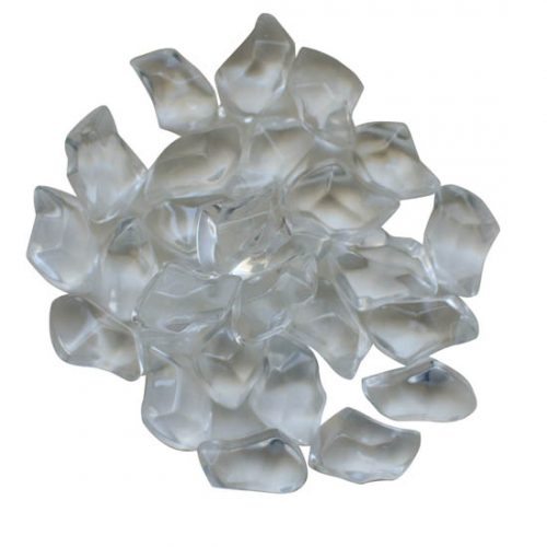 Clear gem fireglass AMSF-GLASS-06