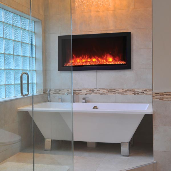 Extra Slim electric fireplace by Remii
